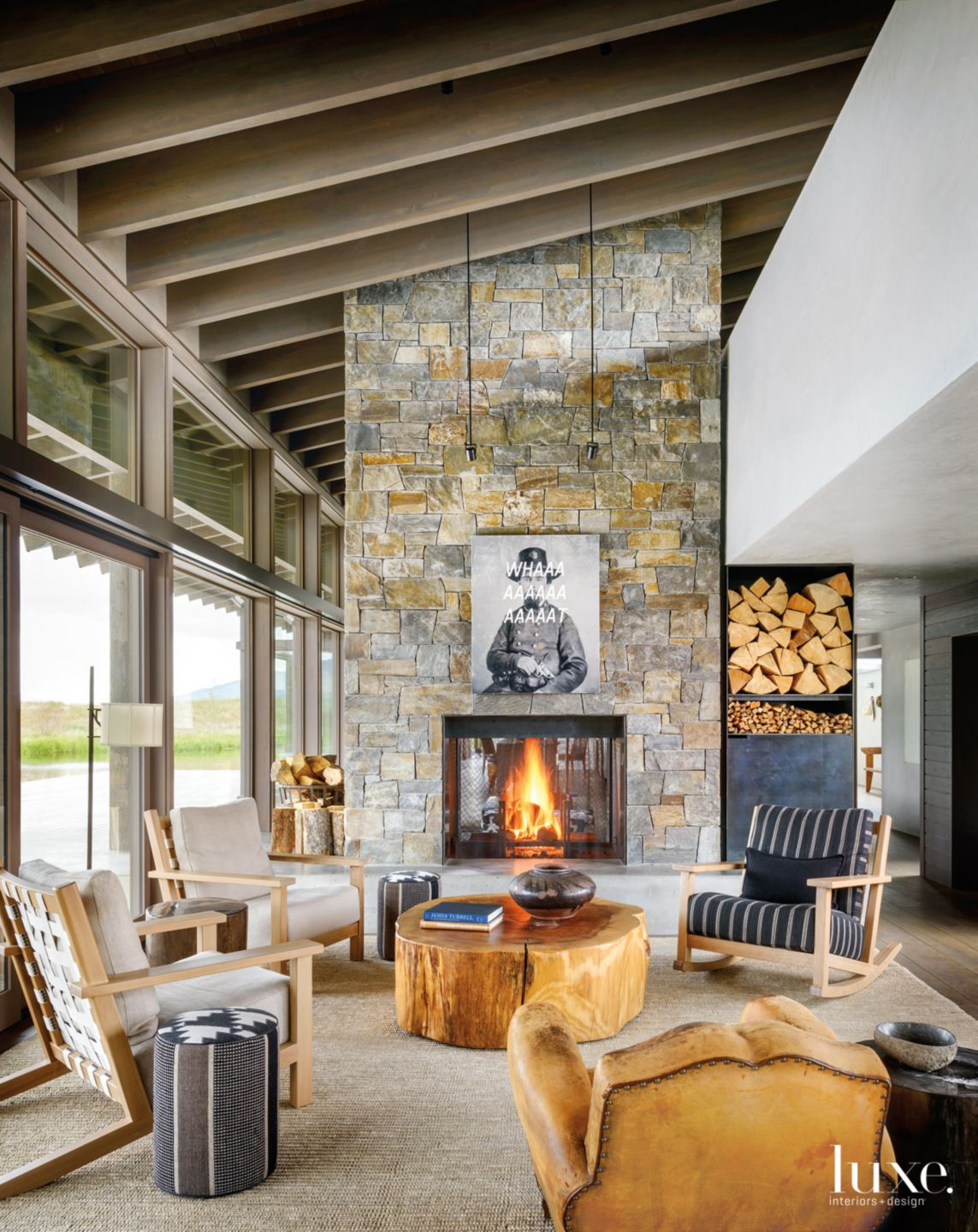 A Lofty Living Space in A Modern Montana Home