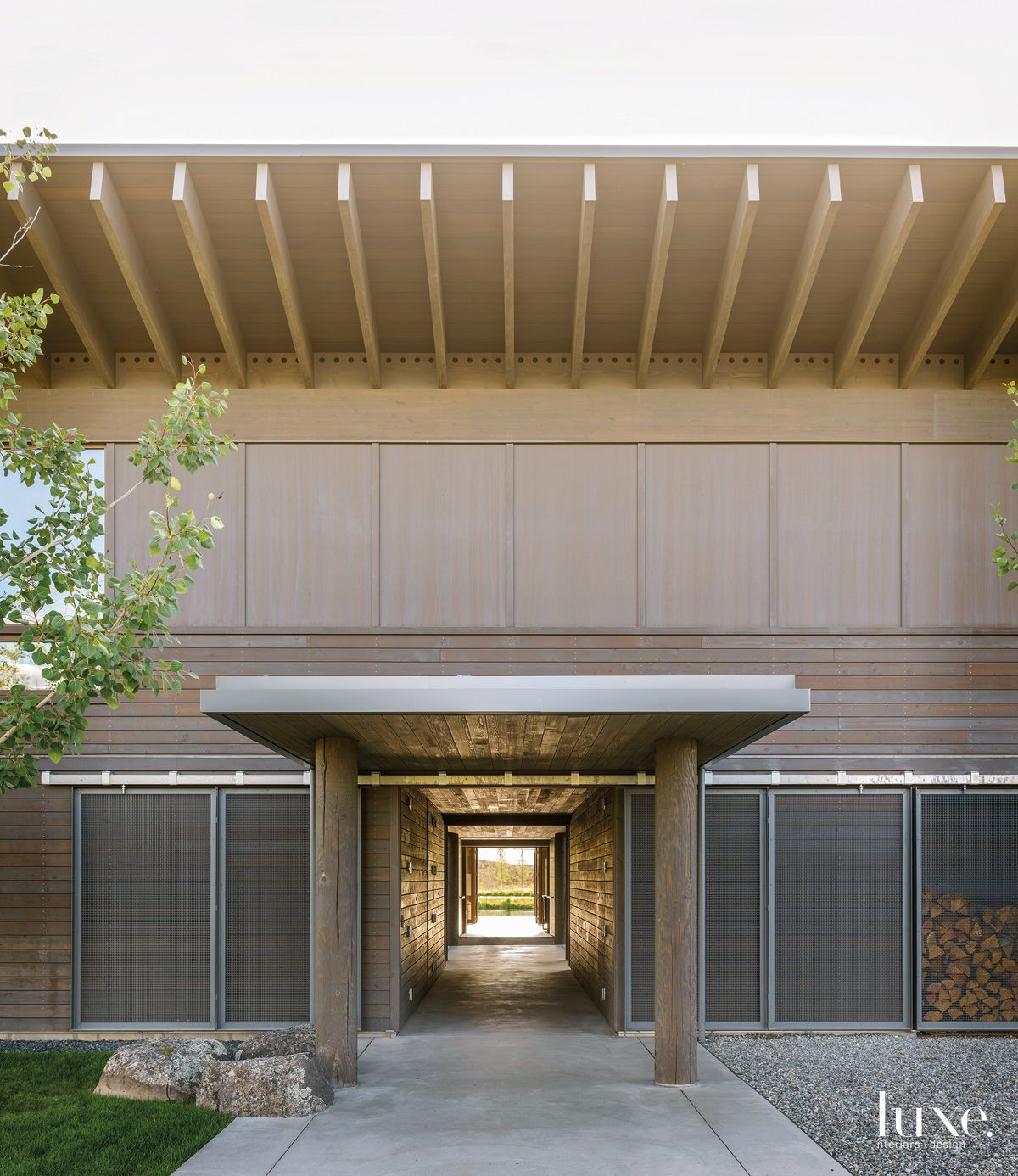 Stunning Entrance To a Modern Montana Home