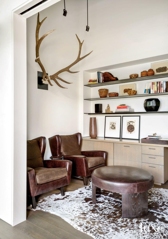 A Masculine Den in a Modern Montana Home