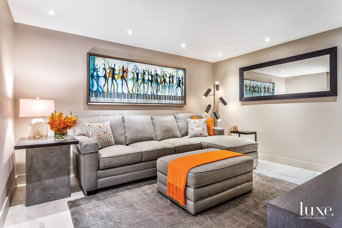 Orange Pops in an Eclectic Fort Lauderdale Condo