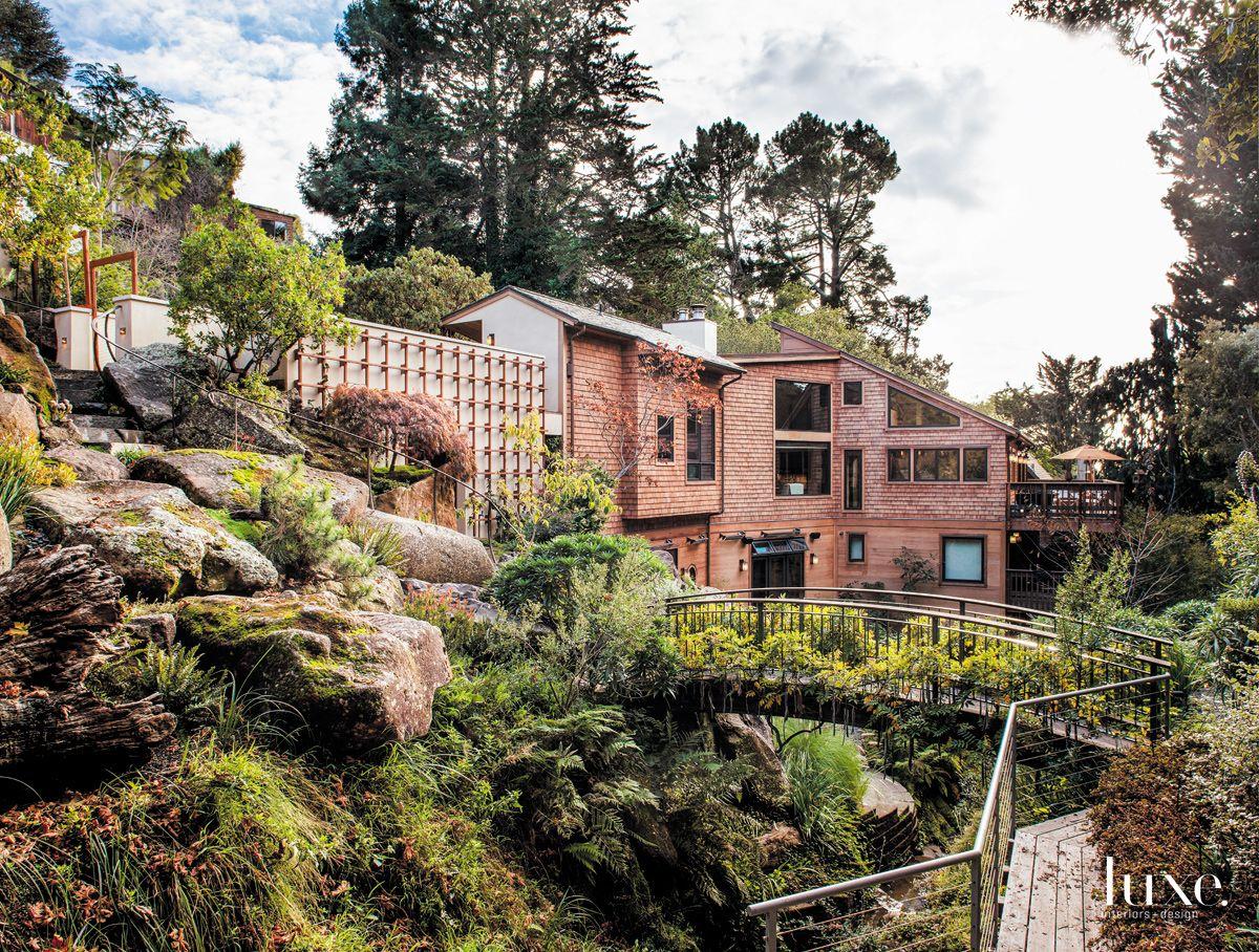 Contemporary California Cool Woodland Home