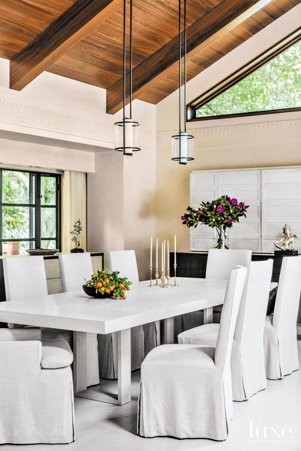 White & Wooden Dining Room in Berkeley Contemporary