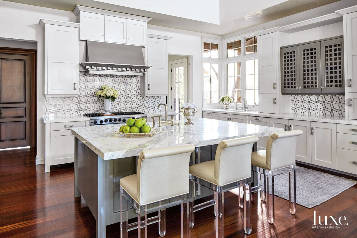 Lucite & Marble Featured in Glam Scottsdale Kitchen