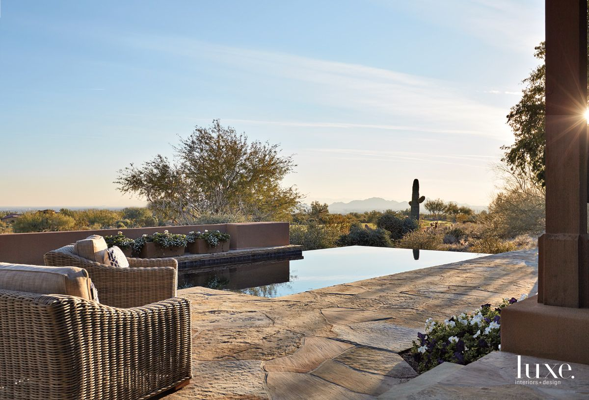 Outdoor Area Designed to Enhance the Views in Scottsdale Home