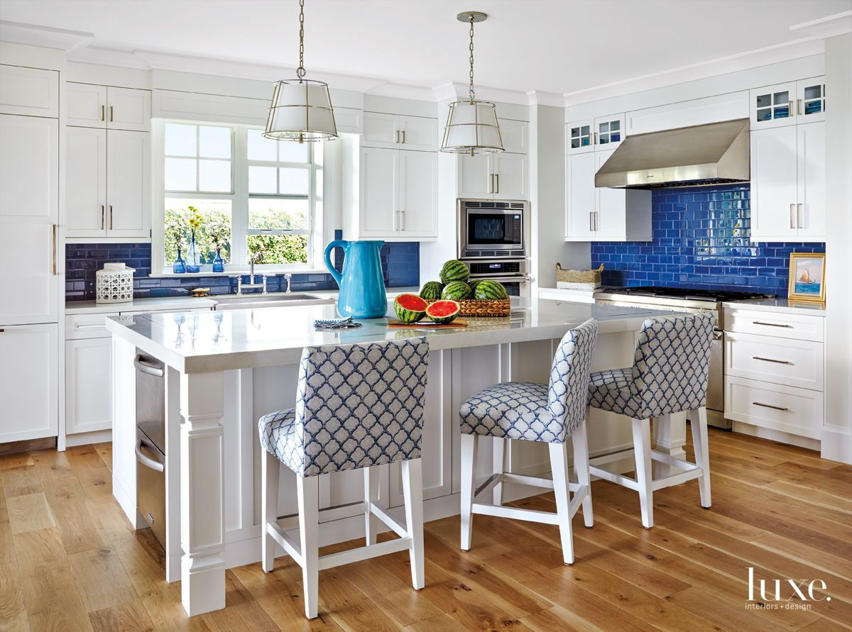 Room For Everyone in Beachy Palm Beach Kitchen