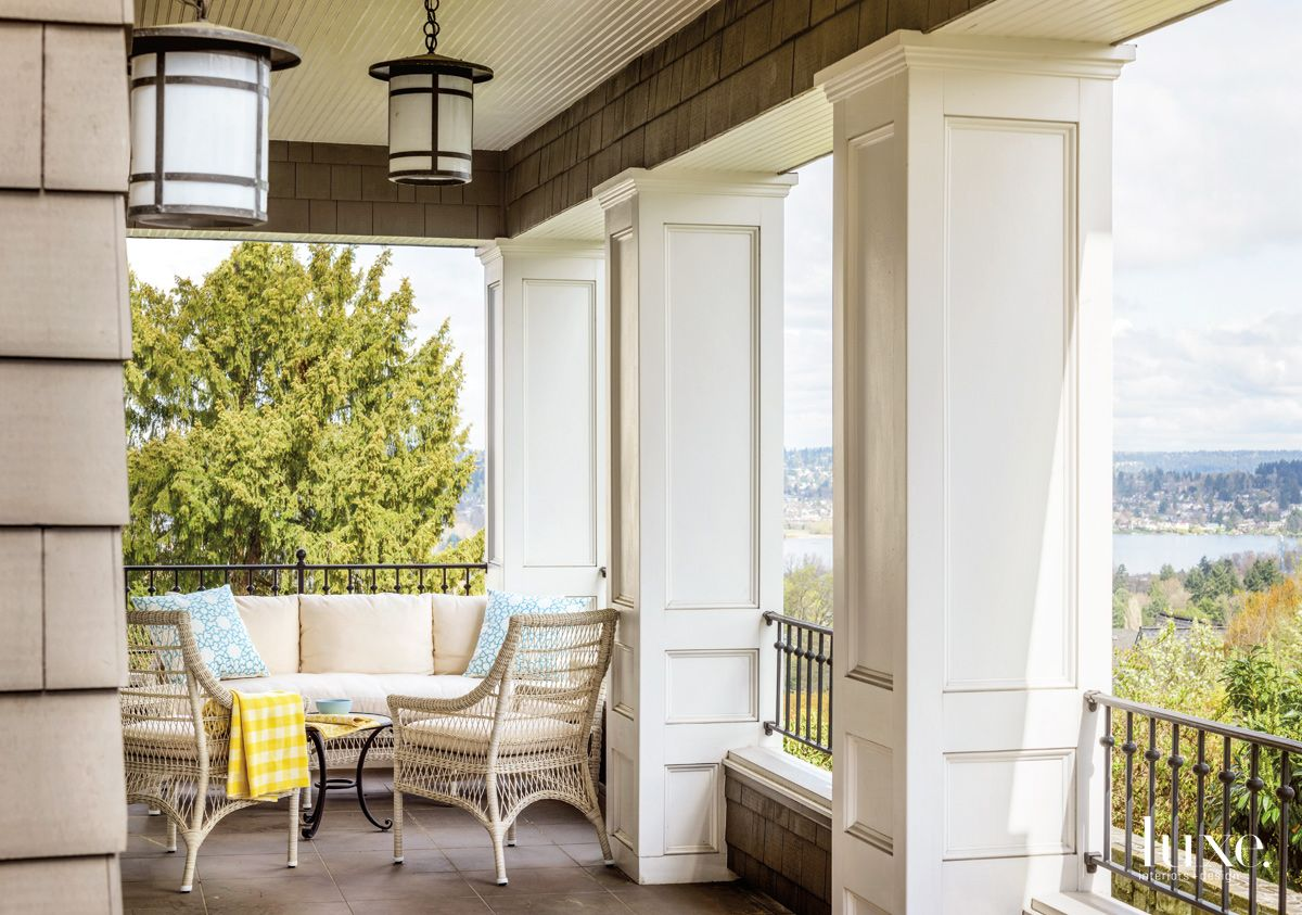 Classic Seattle View Enhanced by Traditional, Elegant Porch