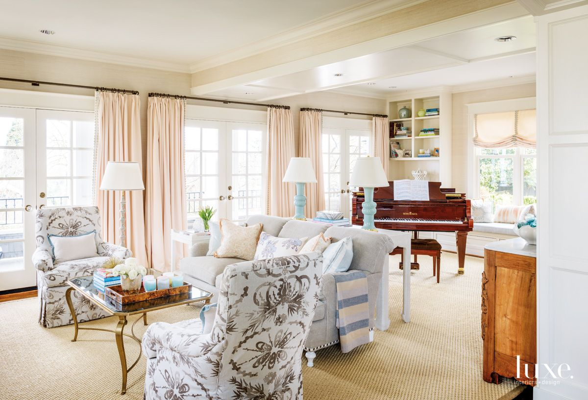 Soft & Bright Color Palette in Seattle Living Room