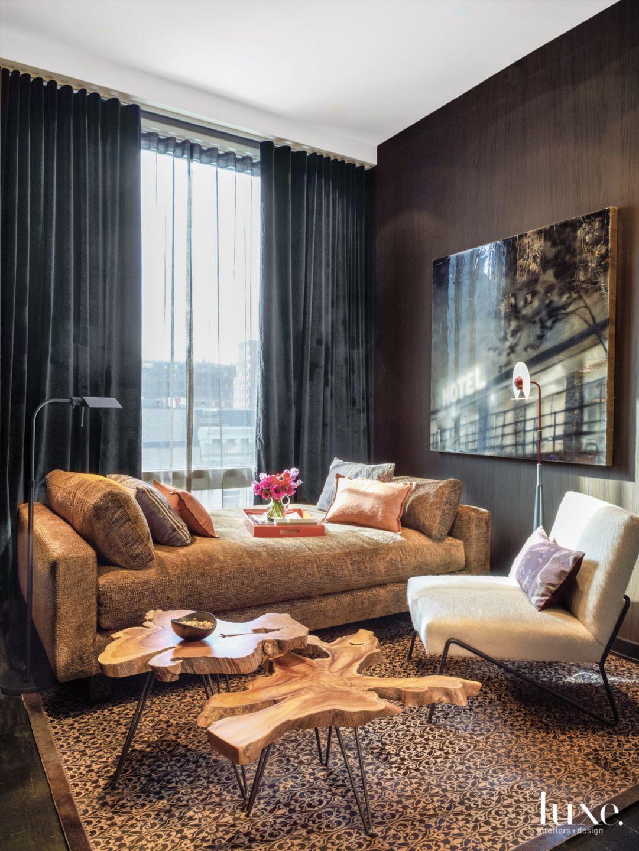Fashionable New York City Apartment with Dark Walls