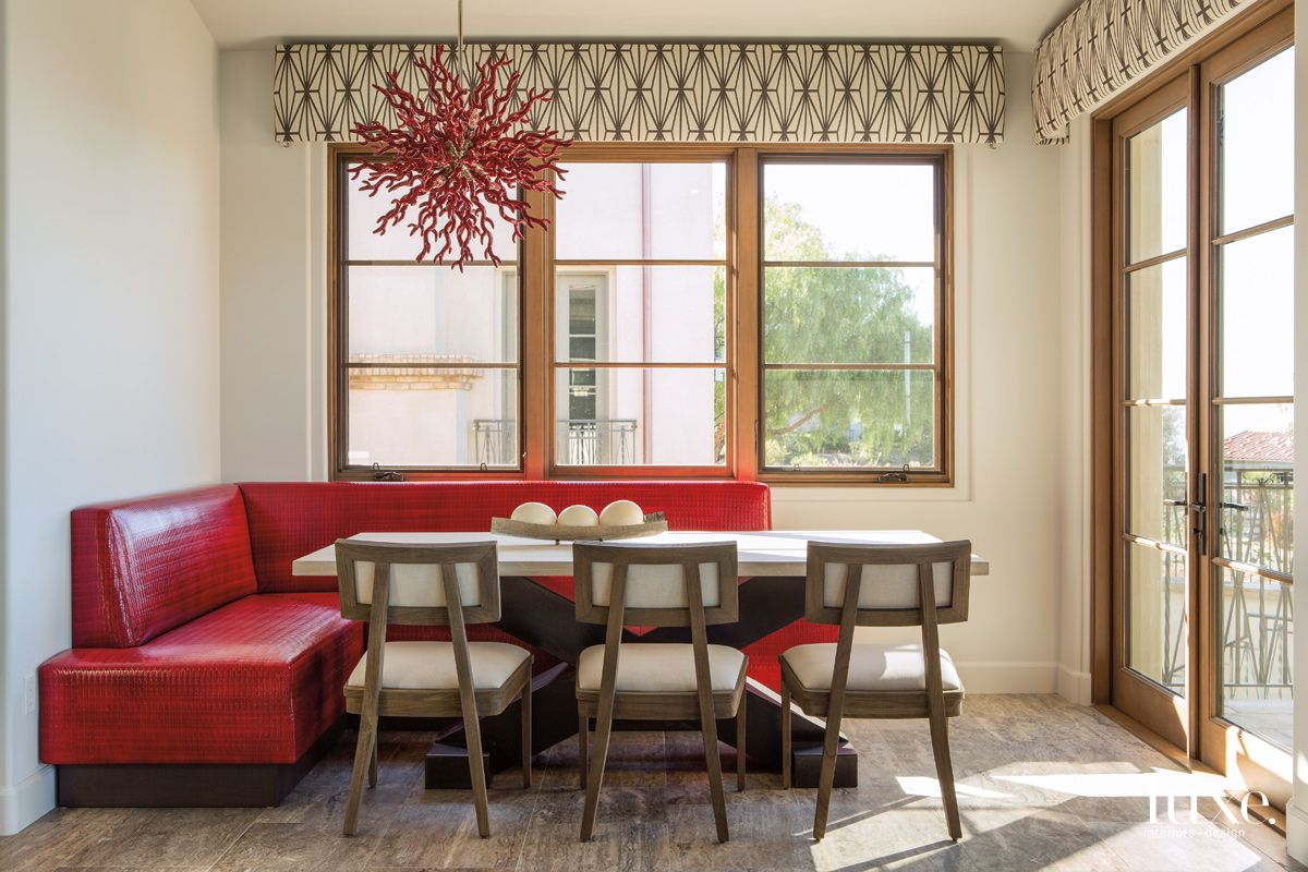 Dramatic Scarlet Pops in This San Diego Kitchen