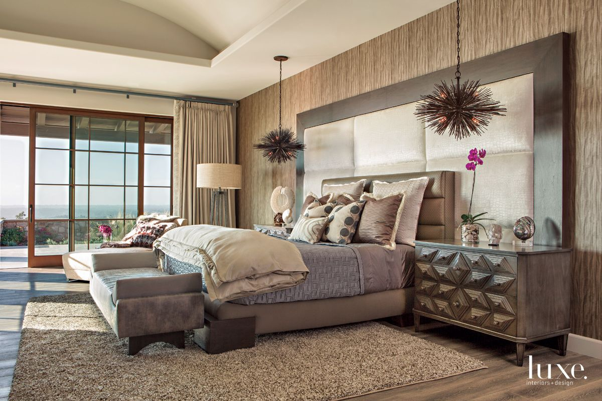 Dramatic View Meets Dramatic Master Bedroom in Mediterranean San Diego Home