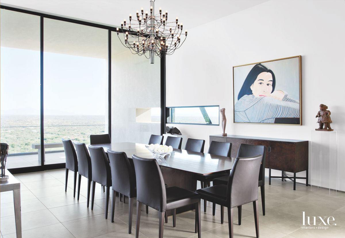 Contemporary Tucson Dining Room Dominated by Art