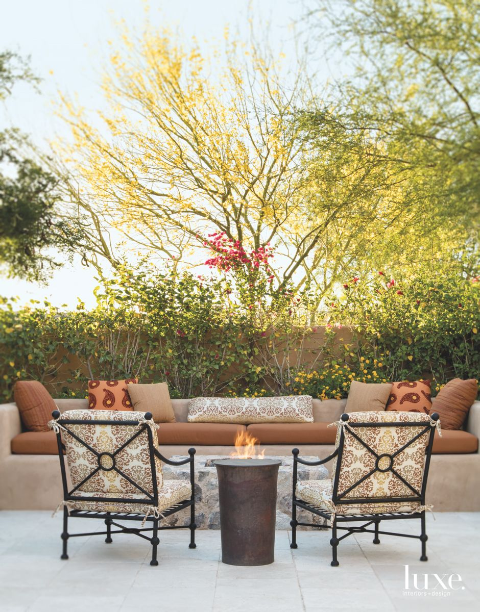 Comfortable Outdoor Patio in Traditional Scottsdale Home
