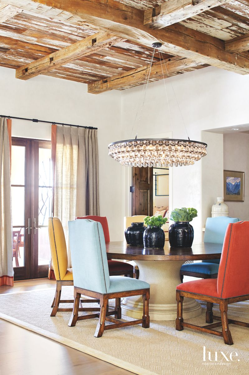 Colorful Dining Room in Traditional Scottsdale Home