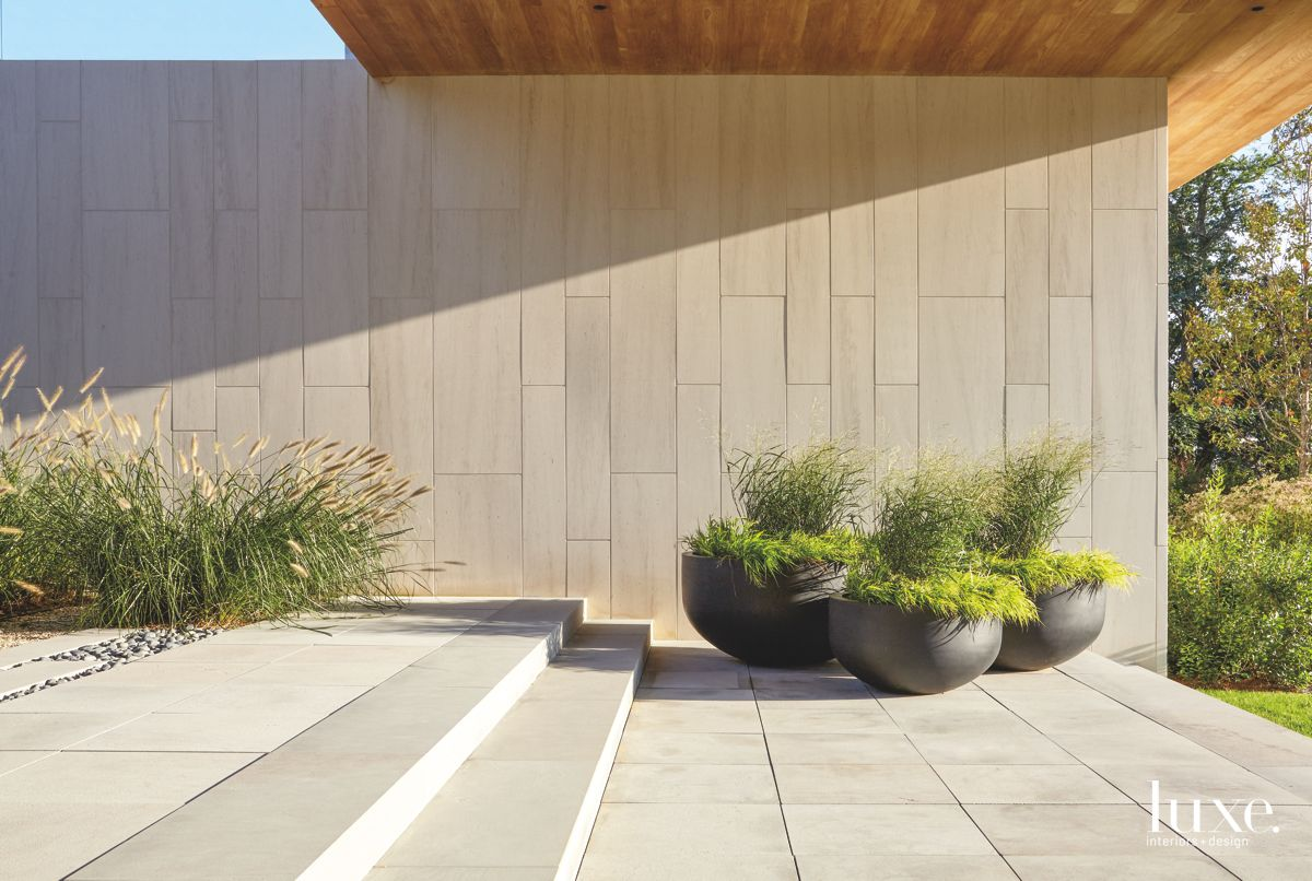Minimalist Landscaping at Modern North Haven Home