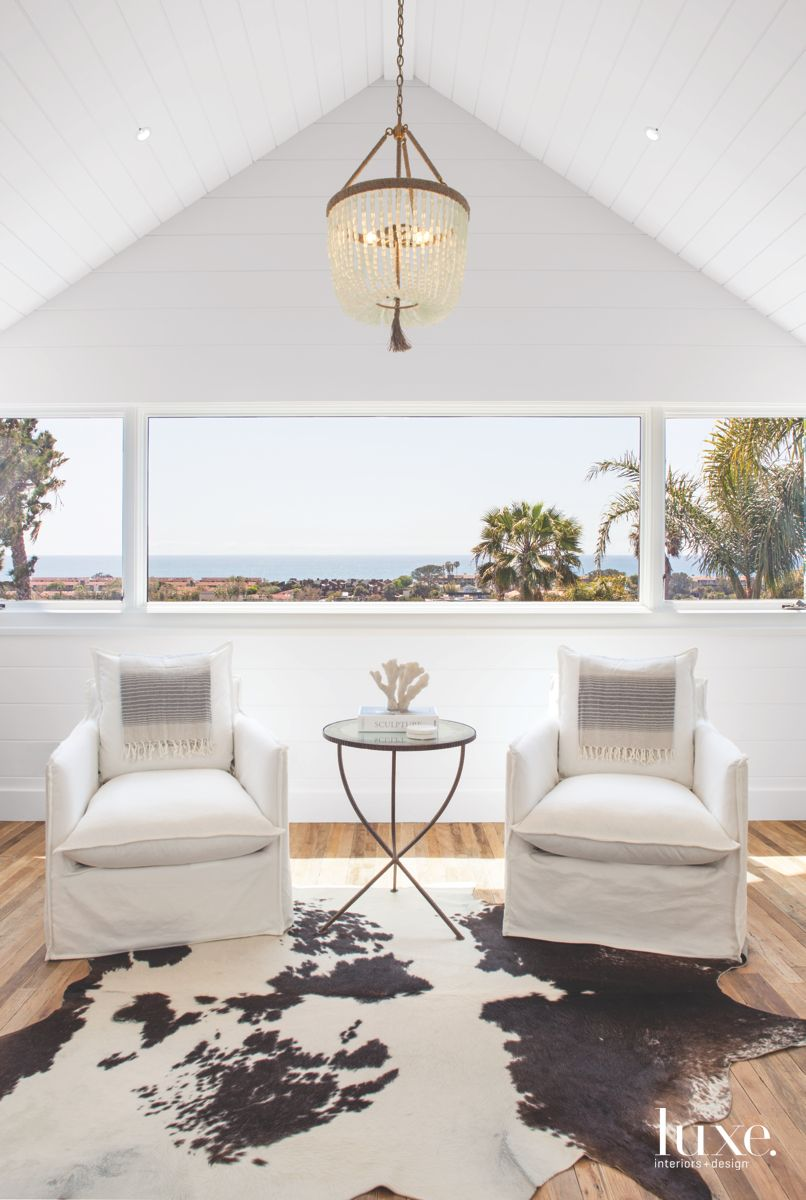 Beach Glass Chandelier in Solana Beach Master Bedroom