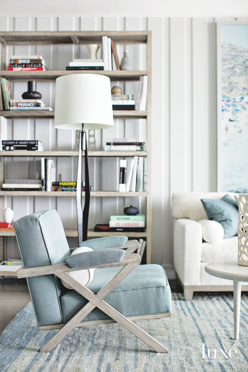 Cool Blues Dominate Modern Miami Living Room