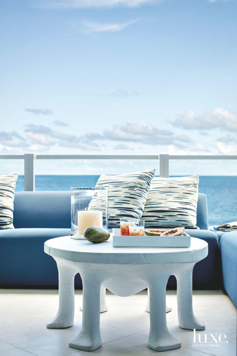 Modern Miami Apartment Balcony with Ocean Views