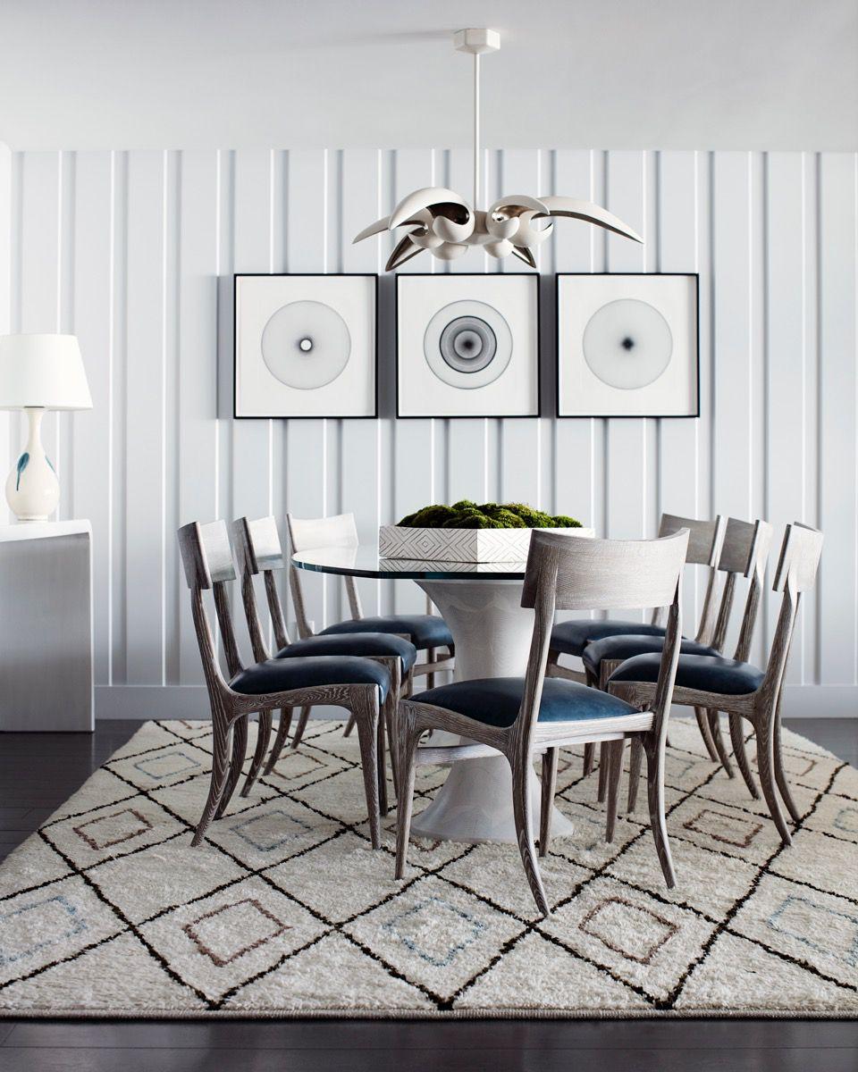 Bold, Modern Dining Room in Coastal Miami Apartment