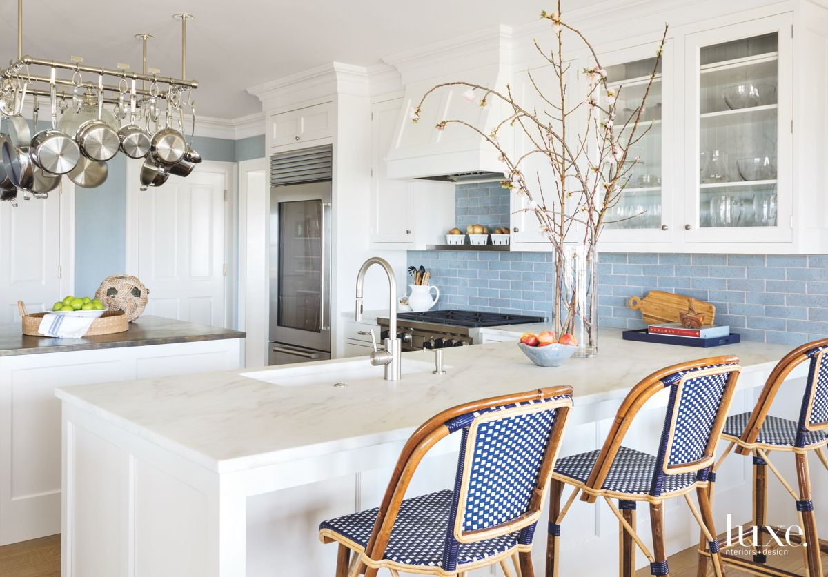 Traditional Kitchen in Historic Shelter Island Home