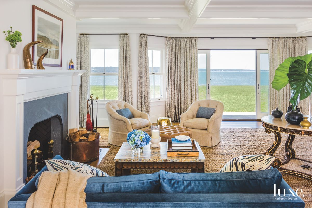 Living Room With a View in Historic Shelter Island Home
