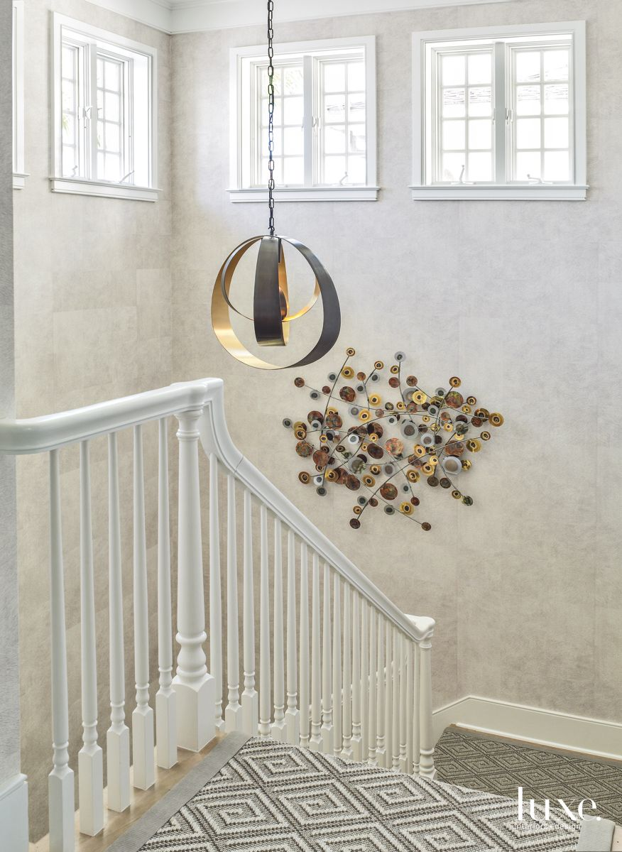 Dramatic Stairwell in Traditional Palm Beach Home