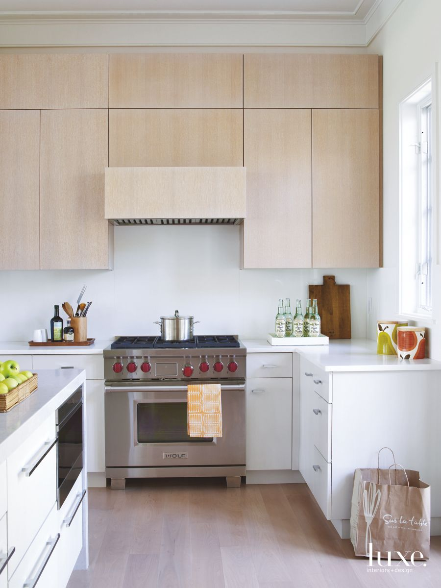 Textured Surfaces Add Interest In Traditional Palm Beach Kitchen