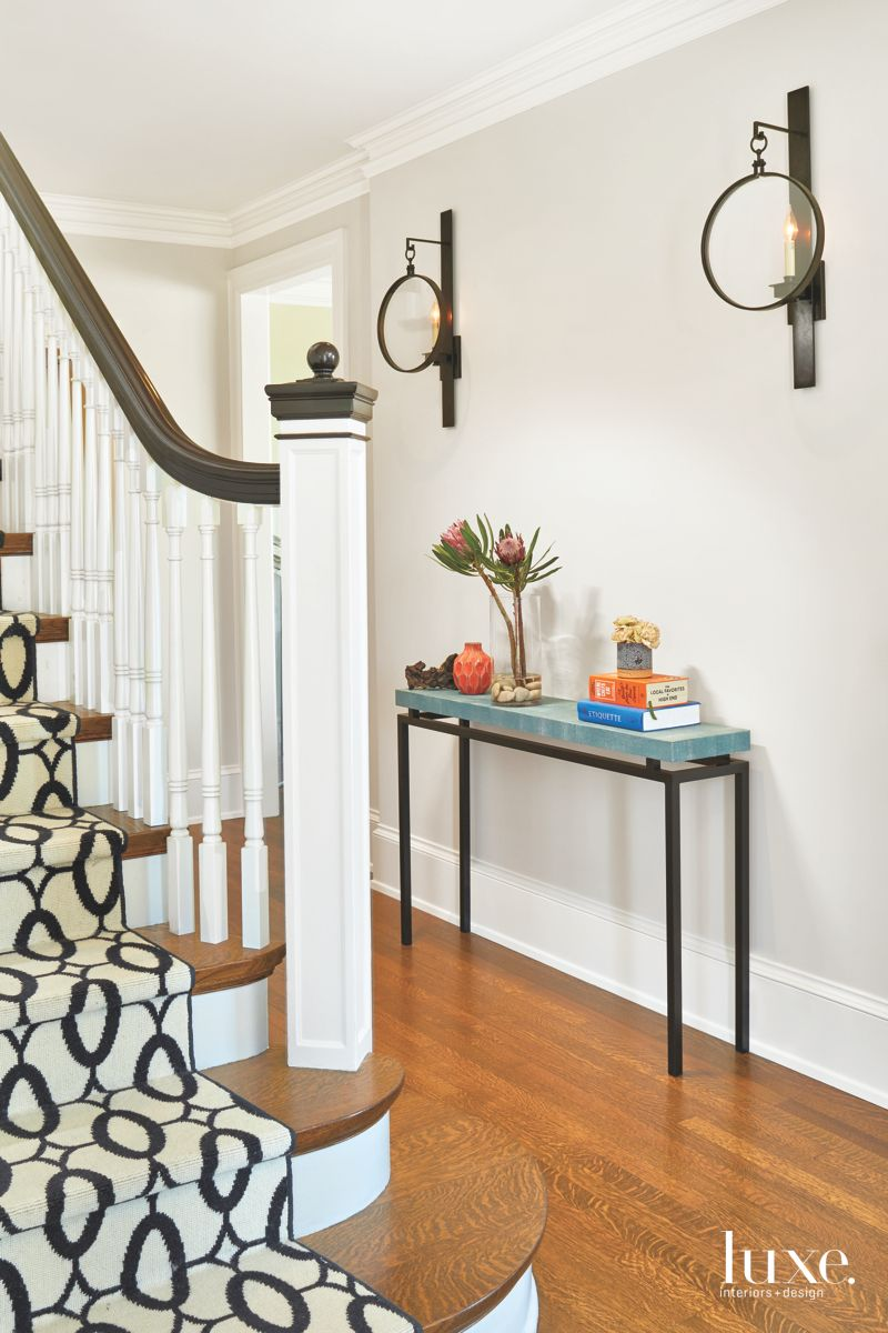 Pops of Fun in Eclectic Seattle Home Entryway