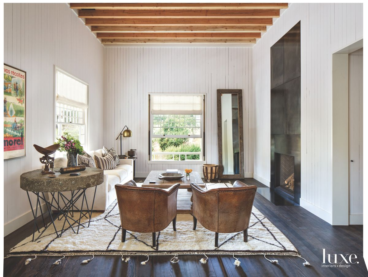 California Cool Country Living Room in Calistoga