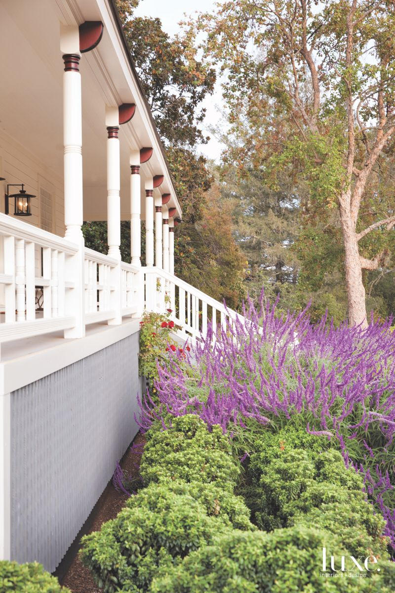 Architectural Styles Mix in Classic Calistoga Wraparound Porch