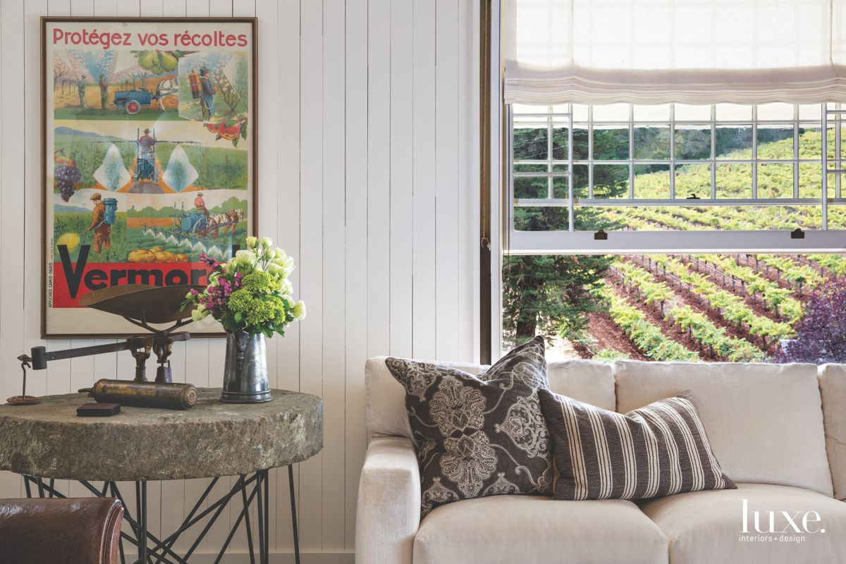 Calistoga Living Room with Vineyard View