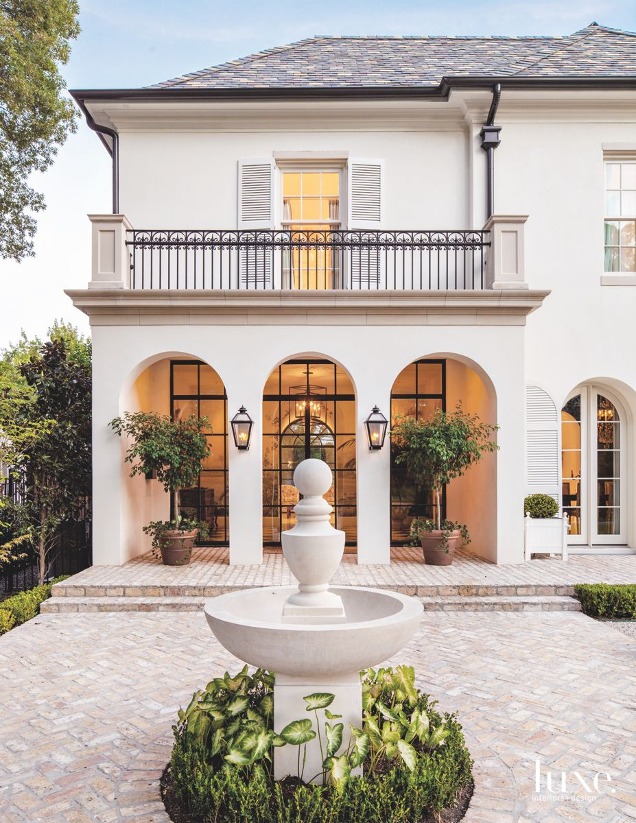 Classical White Dallas Home with Black Details