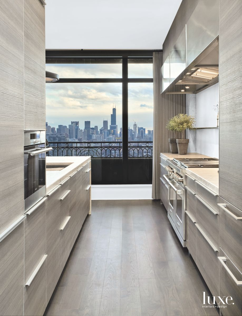Contemporary Chicago Kitchen With Amazing City Views