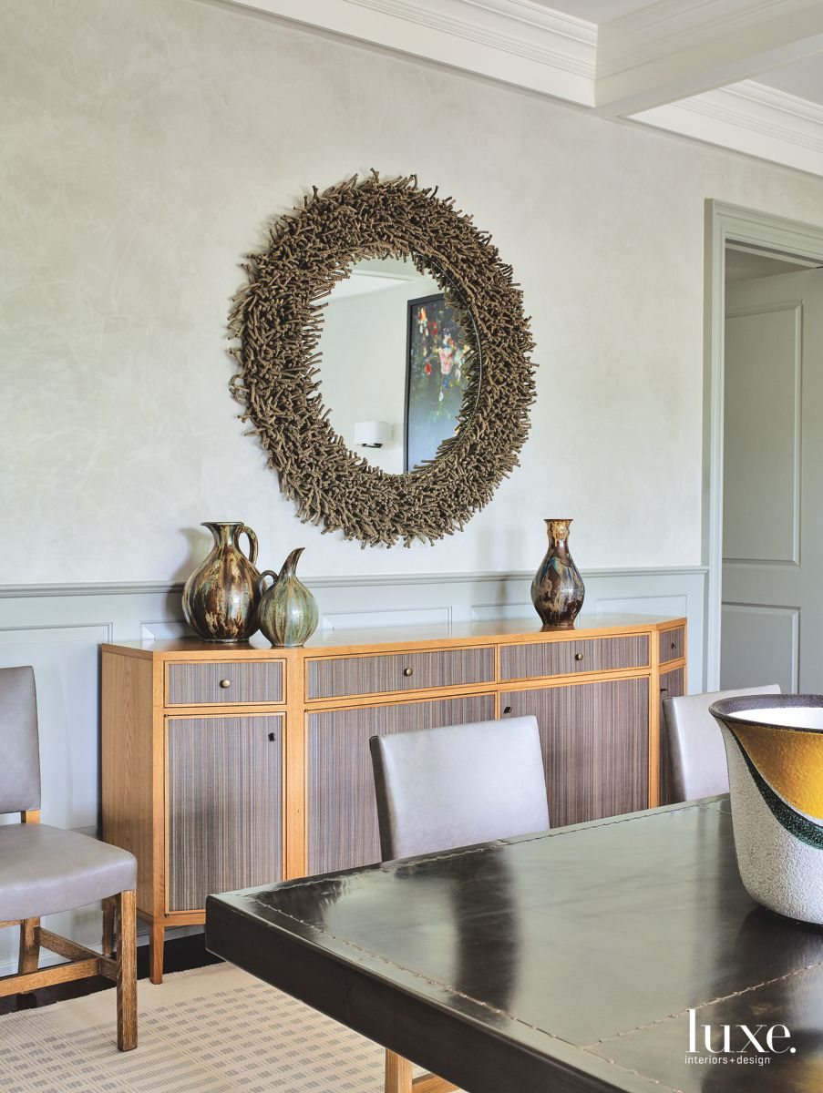 Special Details Enliven Spacious Bridgehampton Dining Room