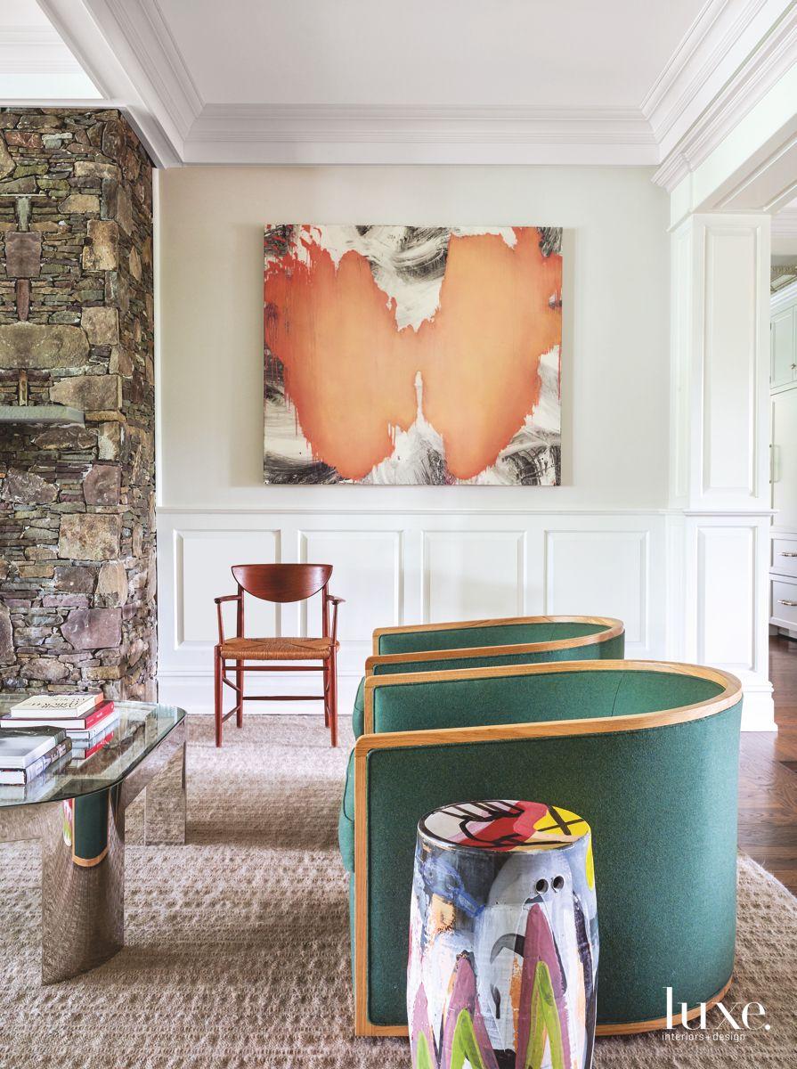 Colorful Touches Add to Spacious Bridgehampton Home
