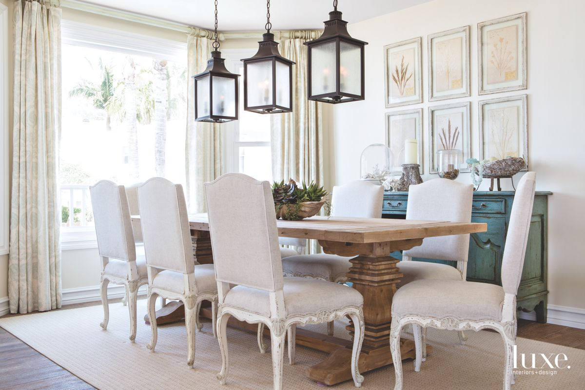 Beautiful Things Come in Threes In This Dana Point Dining Room