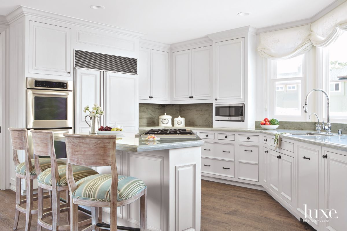Sparkling Details Give Beach House Kitchen A Beachy Vibe
