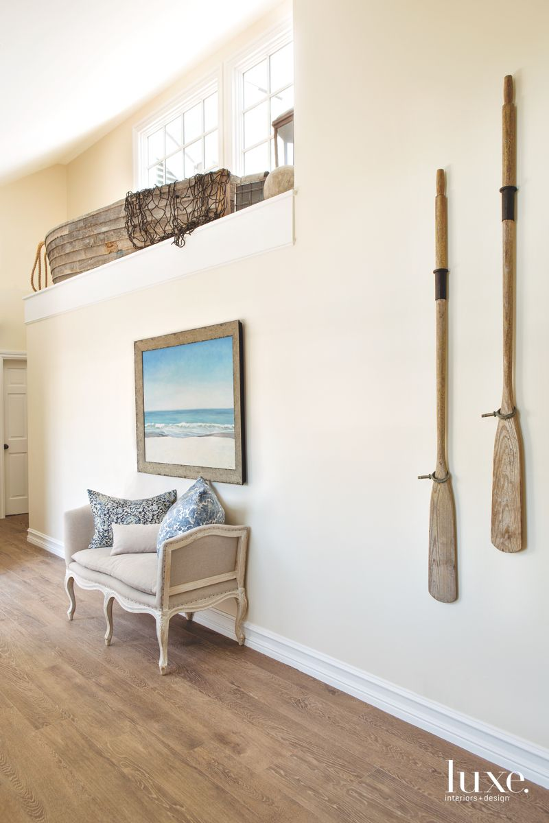 This Hallway Brings the Beach Indoors, Boat Included