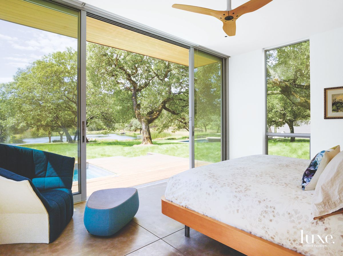 Master Bedroom with Amazing Views In Modernist Sonoma Home