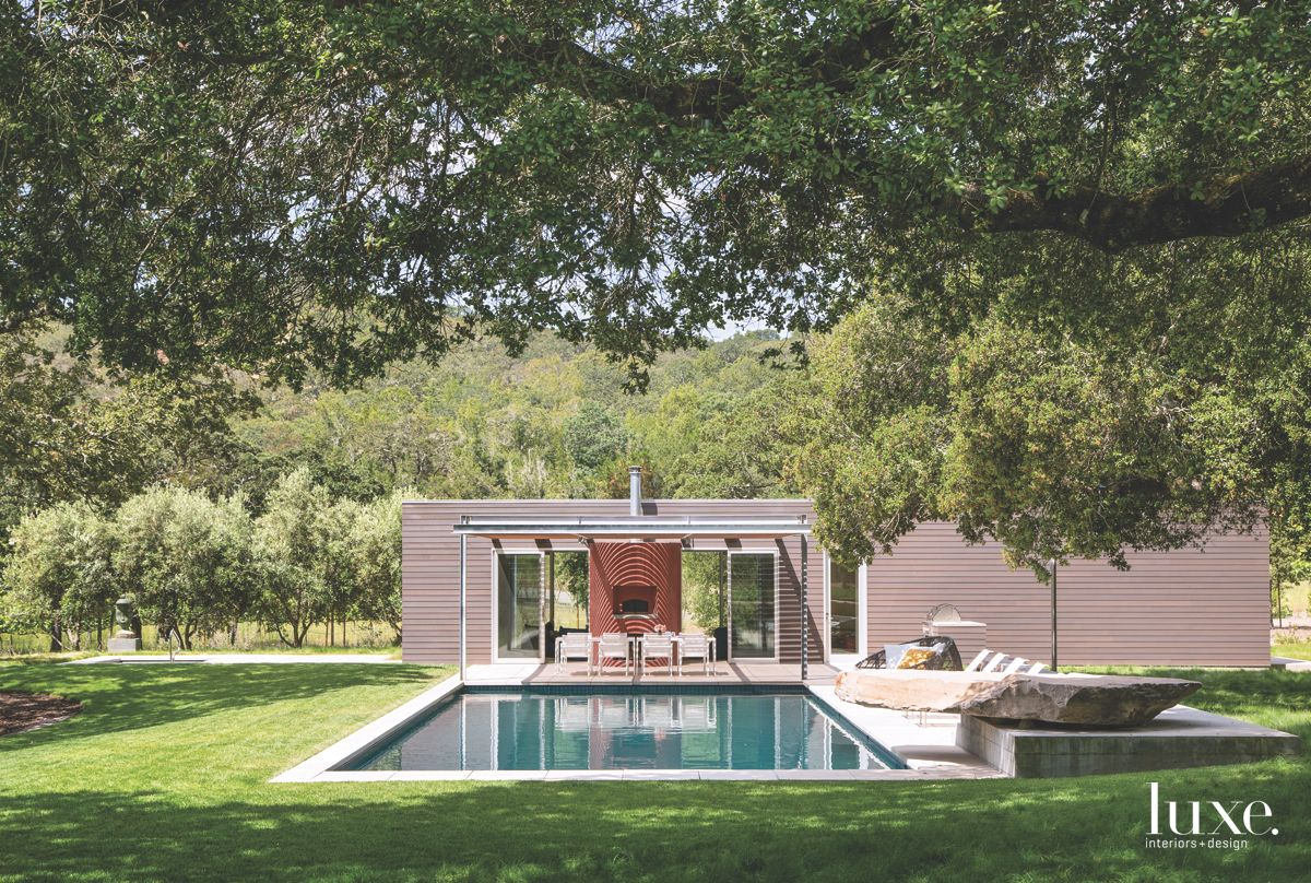 Sonoma Poolside Patio Features Pizza Oven