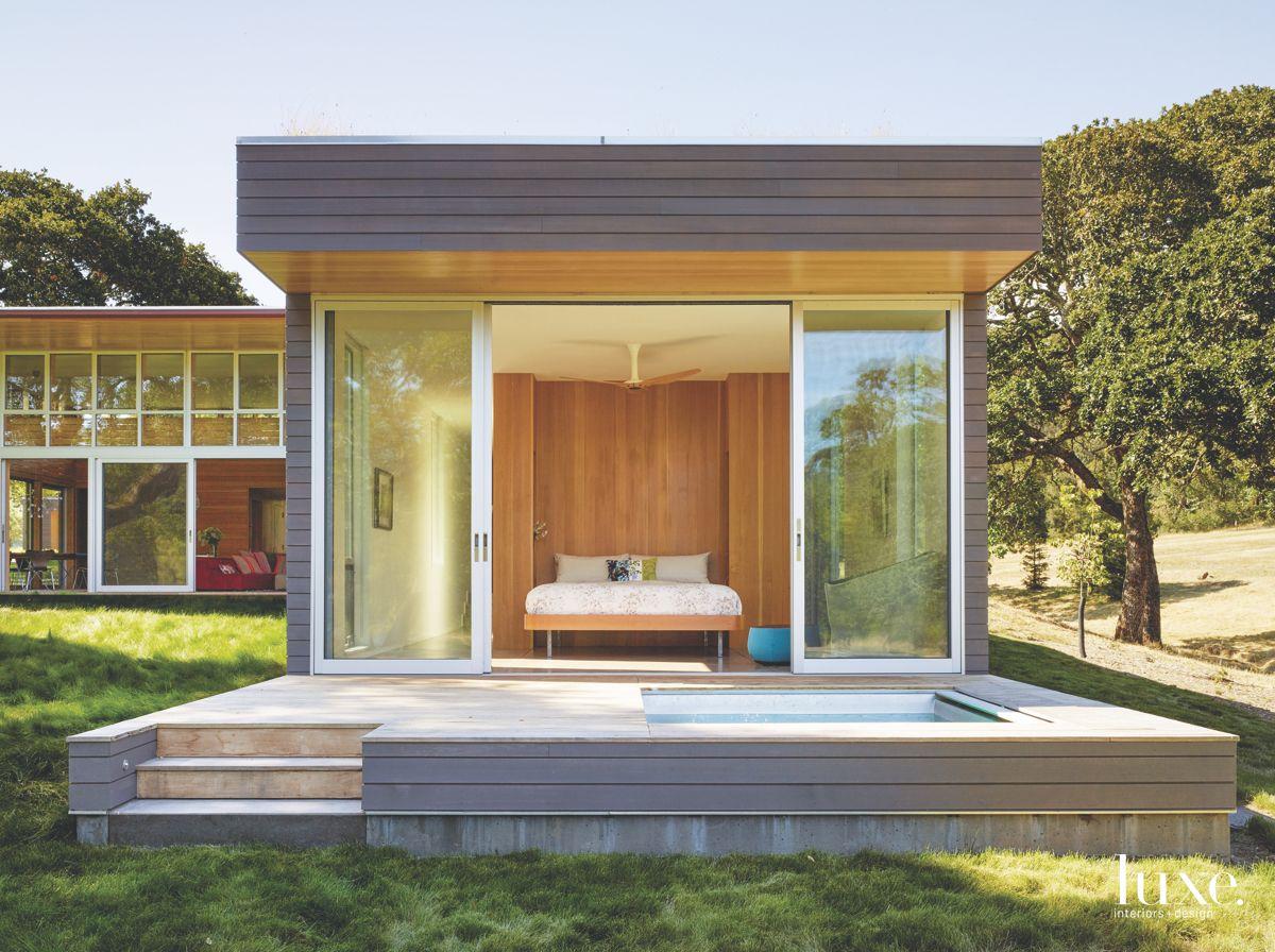 Amazing Indoor-Outdoor Master Bedroom in Modernist Sonoma Home