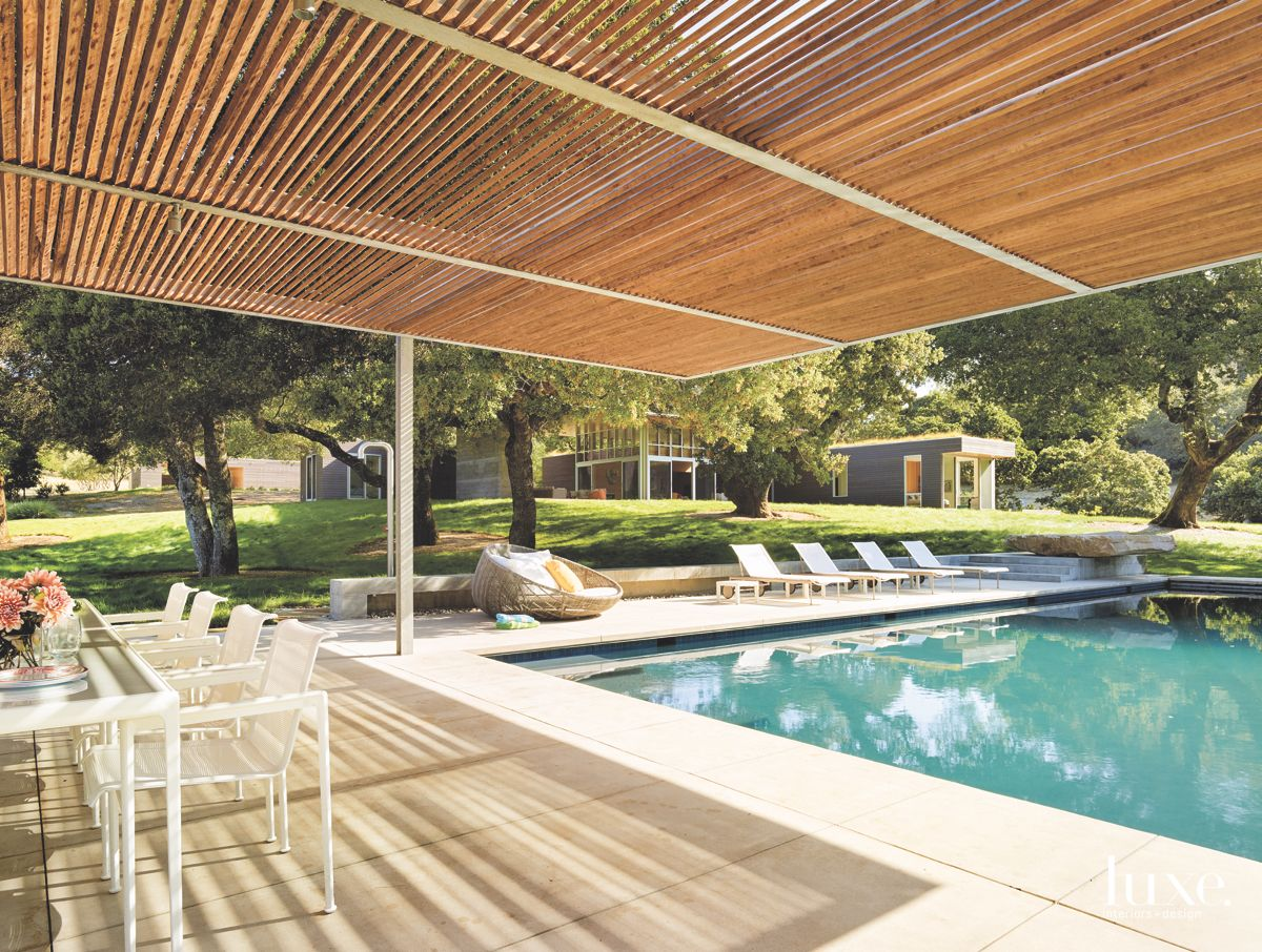 Modernist Sonoma Poolside Guesthouse