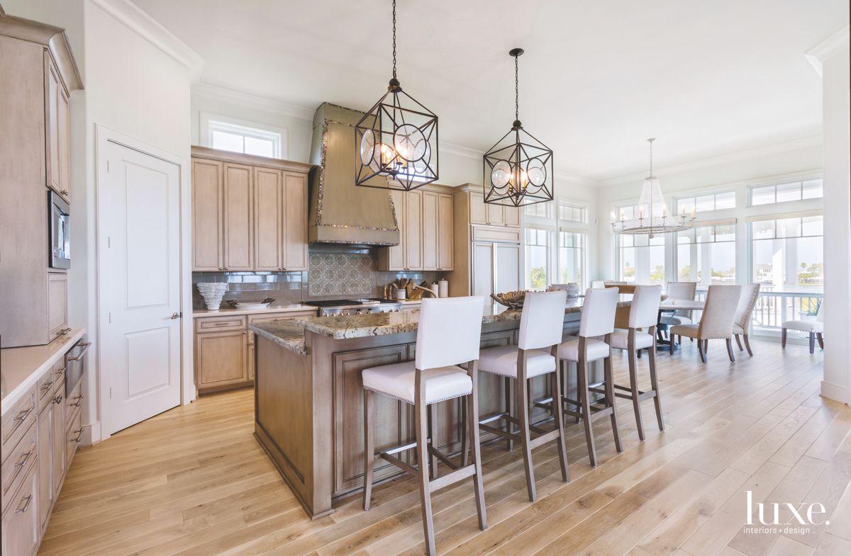 Dramatic Kitchen in Galveston Vacation Beach House