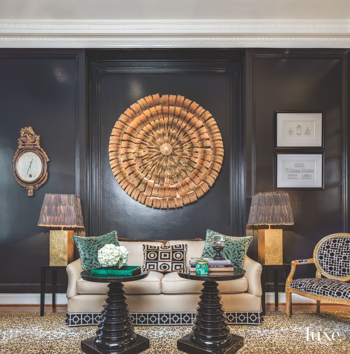 Black Walls & Art Make A Statement in This San Francisco Dining Room