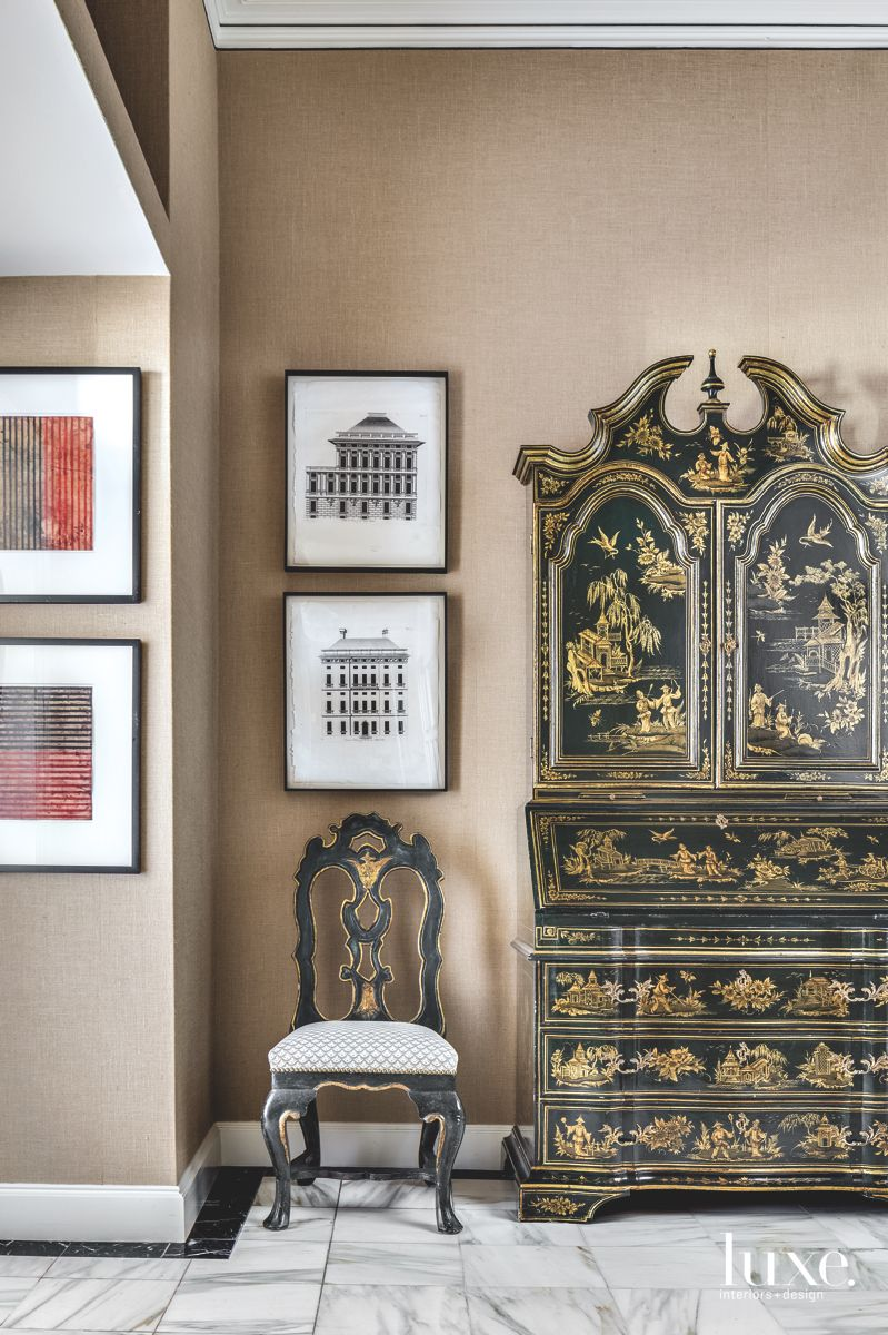 Chinoiserie Chest Makes a Statement in This San Francisco Apartment's Foyer