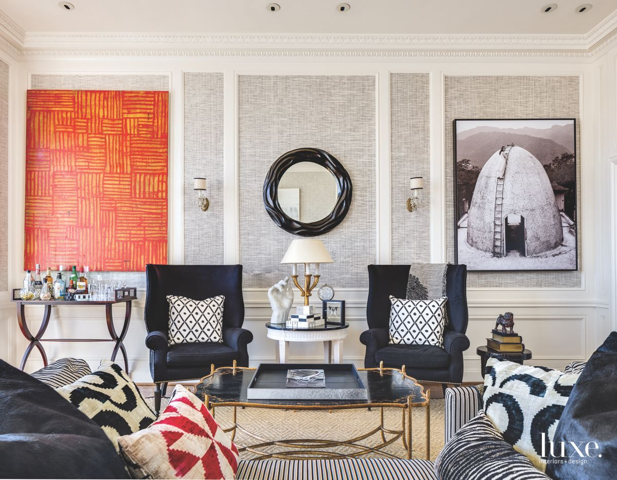 Luxurious Layers In a Sophisticated San Francisco Living Room