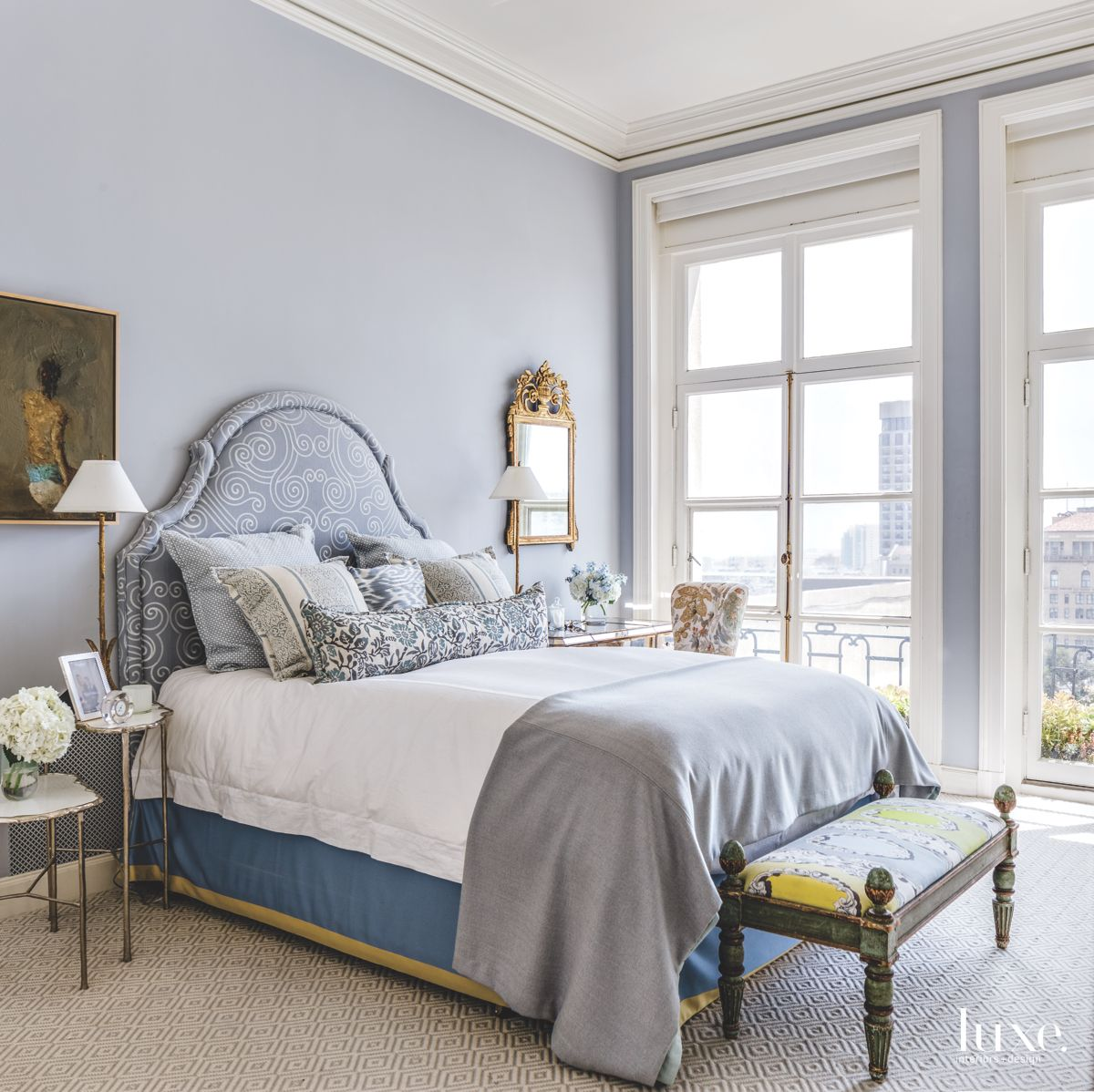 Master Bedroom of Designer's Own San Francisco Apartment Features Feminine Touches