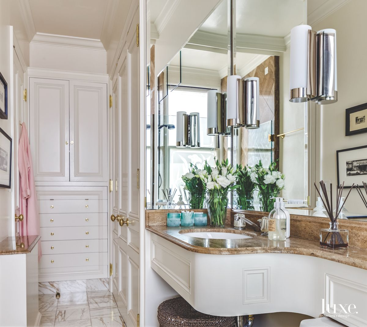 Glamorous Master Bath in Designer's Own San Francisco Apartment