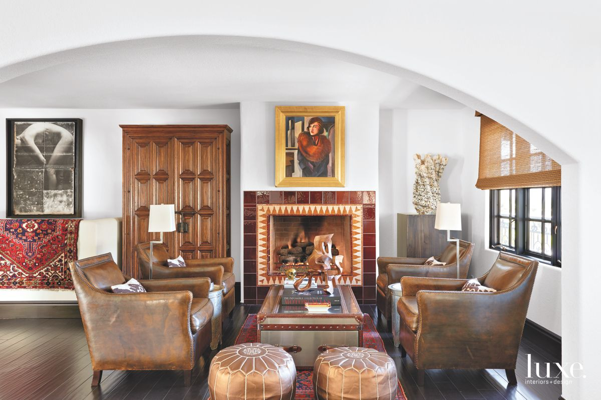Palm Springs Sitting Room Incorporates Old and New