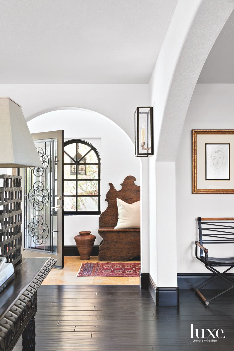 Eclectic Foyer in a Beautiful, Traditional Palm Springs Home