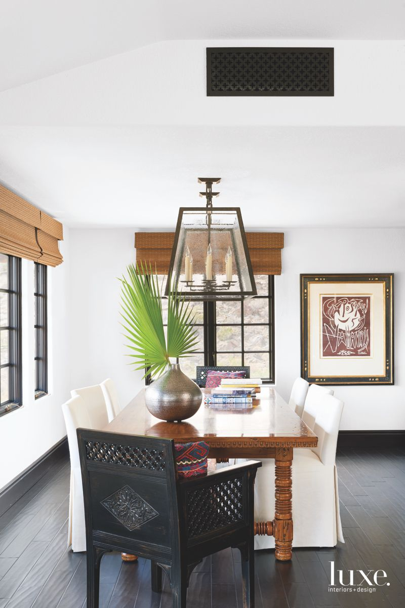 Chic Dining Room in Stylish Palm Springs Spanish Colonial Home